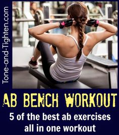 The best ab workout available - shred lower to upper abs and everything in between! #ab #abdominal #workout from Tone-and-Tighten.com