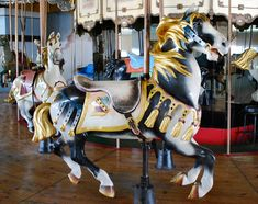 The Atlantic Beach Park Carousel Illions Jumper © Roland Hopkins