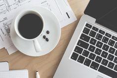 Coffee & Laptop Business Work Siesta by Viktor Hanacek on Creative Market