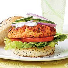 Go Beyond Your Basic Burger | Salmon Burger | CoastalLiving.com