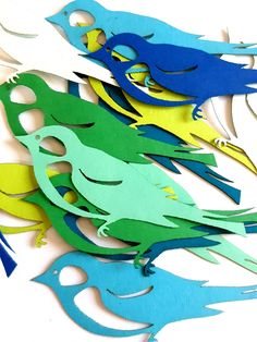 Bird Die Cut Out ( Spring Decoration, Kids Crafts, Confetti, Scrap Booking ) Crafts To Make, Crafts For Kids, Robot Theme, Bird Crafts, Card Making Tutorials, Handmade Birthday Cards, Handmade Cards, School Decorations, Folded Cards