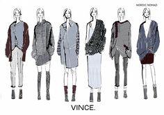 Fashion Sketchbook - fashion illustrations; lineup drawings; fashion portfolio // Julia Knight