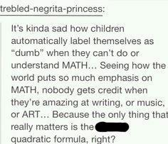 Right no wonder people are self conscious math ruined the world