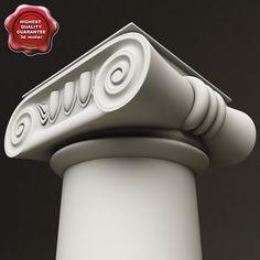 3D Model Ionic Order Column 3D Model
