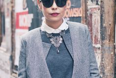 www.collagevintage.com  #streetstyle #fashion