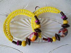 Crochet hoop earrings boho style summer beach by Myhandmadepassion, $13.90