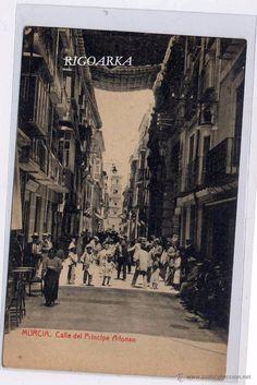 Murcia, Spain, Antique, Poster, Vintage Postcards, Antique Photos, Wanderlust, 19th Century, Street
