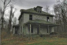 abandoned house outside of Jamestown, PA.