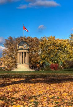 Lovely fall photo in Victoria Park - Dome of the Old City Hall Building , Kitchener , Ontario Great Places, Beautiful Places, Waterloo Ontario, Kitchener Ontario, Gone Days, Discover Canada, Canada Eh, Twin Cities, Old City