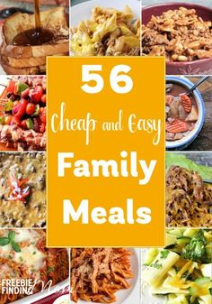 Need quick easy and delicious meals on a budget? These 56 cheap and easy family meals are sure to inspire you. Youll find breakfast ideas beef recipes pasta recipes soup recipes and more! - March 23 2019 at Easy Family Meals, Frugal Meals, Budget Meals, Family Budget, Recipes On A Budget, Frugal Recipes, Family Recipes, Easy Budget, Big Family