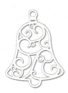 Papírové výřezy - zvonek filigránový 8 cm, 12 ks