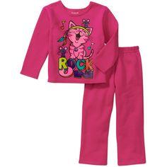 Garanimals Baby Girls' 2 Piece Graphic Fleece Pullover and Pant Set: Baby Clothing : Walmart.com
