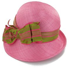 Pink and green hat Aka Sorority, Alpha Kappa Alpha Sorority, Sorority Life, Fancy Hats, Cute Hats, Green Hats, Love Hat, Pink Hat, Everything Pink