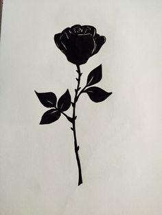 Roses silhouette vector | Tattoo ideas | Tattoos, Black ...