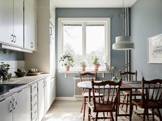 se wp-content uploads 2016 04 kok_matplats_foto_Jonas_Berg_for_Stadshem. Scandinavian Interior, Home Interior, Kitchen Interior, Interior And Exterior, Kitchen Design, Interior Decorating, Interior Design, Kitchen Dinning, Dining Area