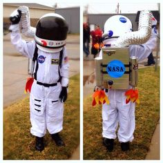 Homemade astronaut costume for kids