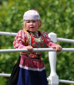Dressed up   A child from the Netherlands