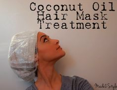 Coconut oil can be absorbed better than any other oil out there and helps to strengthen the hair follicle which in turn helps to stimulate growth.  Working with dry hair one side at a time, take a 1″ piece and rub the oil into it starting from the scalp all the way down to the ends. Cover with a plastic cap  hot towel for 30-40 mins