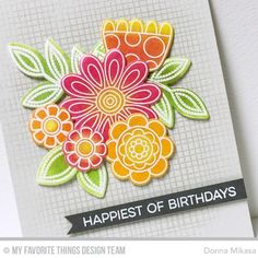It's time! You may now purchase MFT's March Card Kit-- Doodled Blooms --   in the MFT Store! I have one more project to share with ...