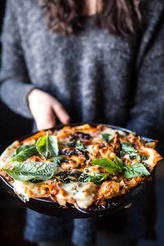 Simple Vegetarian Skillet Lasagna | halfbakedharvest.com @hbharvest