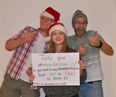 Alex, James and Sarah show you how it's done. Hat + snap + nominate + donate = the best possible Christmas present for the people we support with disabilities and mental health needs. Get involved: http://www.unitedresponse.org.uk/Event/xmashatsnap #XmasHatSnap #combatisolation