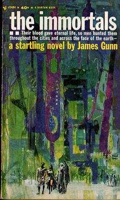 The Immortals, James Gunn (1962 edition), cover by Mitchell Hooks