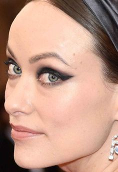 Close-up of Olivia Wilde at the 2015 Met Ball.