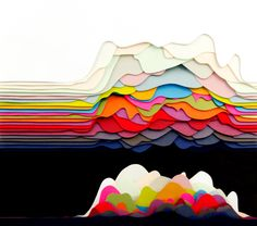 layered paper - Google Search