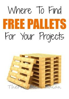where to find free pallets for projects