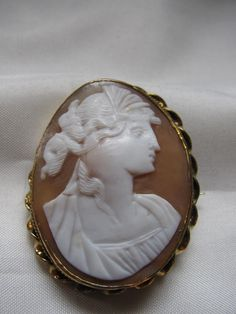 Victorian Brooch  Cameo Carved Shell of by victoriansentiments