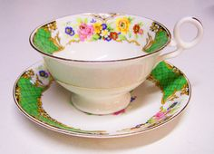 Radfords Crown China England Tea Cup and Saucer Set by cellardepot, $25.00