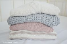 stack of knitted clothes