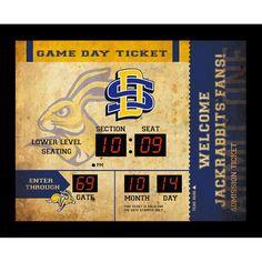 """South Dakota State Jackrabbits 23"""" x 18"""" Bluetooth Scoreboard Wall Clock - $99.99"""