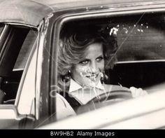 Princess Of Wales Cars & Driving 1984 Princess Diana At Sandringham Today Princess Diana Of Wales (died 31/8/97) Stock Photo