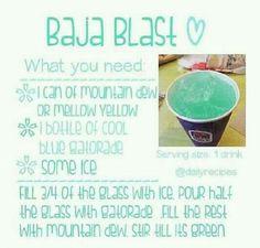 Baja blast recipe Make it yourself.