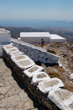 Paros - Cyclades - Greece, the blue sea, sky and the dry land full of the wonderful smells of the summer!