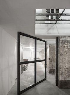 #interior design #minimalism #glass doors