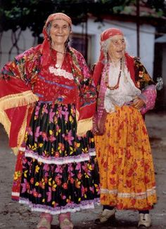 """Historical reference rom """"gypsy"""" women Very colorful, covered, many shawls. A real departure from our Esmerelda and renfair inspired """"gypsy"""" ideas"""