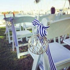 Love our nautical flair for this ceremony Cloud Nine Weddings #wedding #ceremony #love #cloudnineweddings #style #weddingtrend
