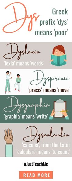 DYS Aware Day - Dyslexia - Dyscalculia - Dysgraphia - How Felicity Finds Dyscalculia, Learning Support, Struggling Readers, Prefixes, Dyslexia, Read More, Writer, Place Card Holders, Math