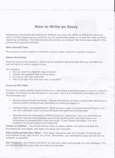 General admissions essay