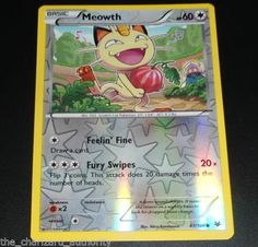 Meowth-67-108-XY-Roaring-Skies-MINT-Reverse-HOLO-Pokemon-Card