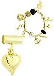 Berloque folheado a ouro em forma de coração liso (Pandora inspired)  http://www.imagemfolheados.com.br/?a=3434