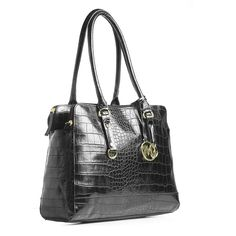 @Emilie M Handbags is giving away this awesome Black Croco Kimberley tote this week!  Enter in the link for a chance to win!