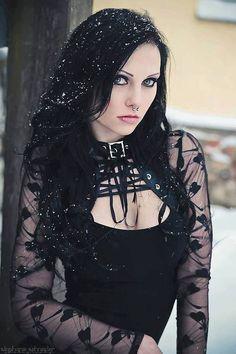 Dark Haired Gothic Girl