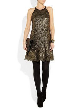 Gold lace dress by DKNY