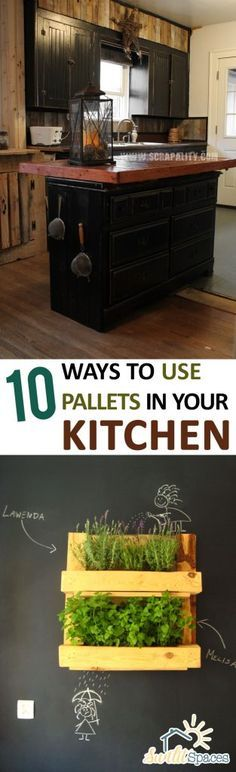 10 Ways to Use Pallets in Your Kitchen| Pallet Projects for the Kitchen, Kitchen DIY Project, DIY Home, DIY Kitchen Decor, Remodel Your Kitchen How to Remodel Your Kitchen, Popular Pin