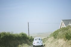 Baby blue VW bettle as wedding transport for Nik and Chris' chilled out rustic coastal farm wedding // Pete Cranston Photography // The Natural Wedding Company Wedding Fair, Farm Wedding, Wedding Company, Coastal, Rustic, Baby Blue, Wales, Vw, Photography