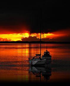 A splendid sunset view