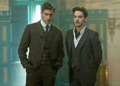 The men of NBCs Dracula. ... Oliver Jackson-Cohen as Harker & Jonathan Rhys Meyers as Grayson/Dracula